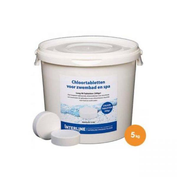 Interline Chloortabletten - Long90 - 200gram_5kg