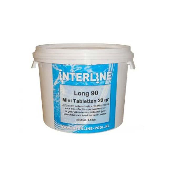 Interline Chloortabletten – Long90 – 20gram_2,5kg