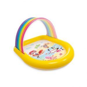 Regenboog zwembad met sproeiers