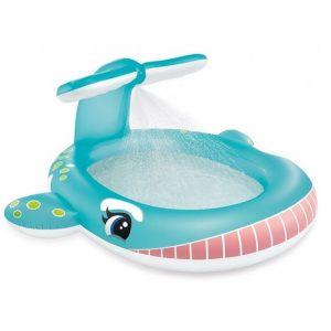 Walvis zwembad met sproeier