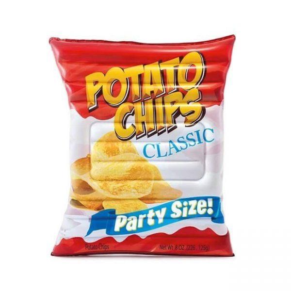 Opblaasbaar-luchtbed—zak-chips