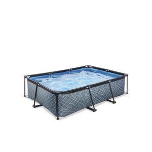 EXIT zwembad 220x150x60cm – Stone Grey