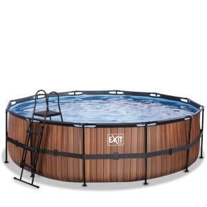 EXIT zwembad ø488x122cm – Wood