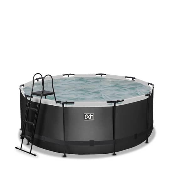 EXIT zwembad ø360x122cm – Black Leather Style
