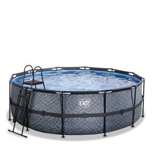 EXIT zwembad ø427x122cm – Stone Grey