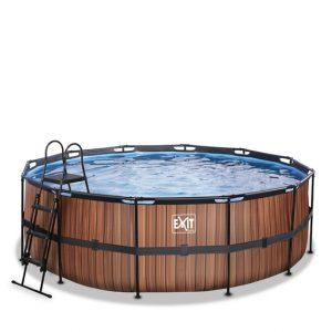 EXIT zwembad ø427x122cm – Wood