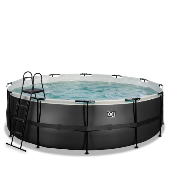 EXIT zwembad ø450x122cm – Black Leather Style