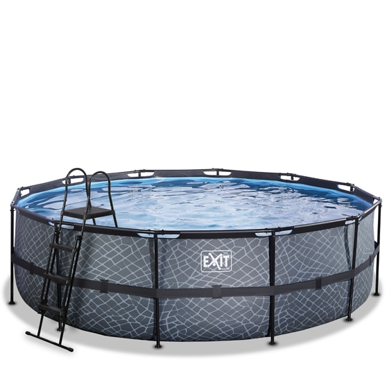 EXIT zwembad ø488x122cm – Stone Grey