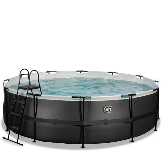 EXIT zwembad ø488x122cm – Black Leather Style