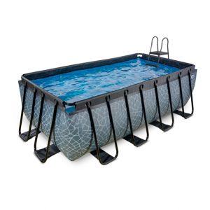 EXIT zwembad 400x200x122cm – Stone Grey