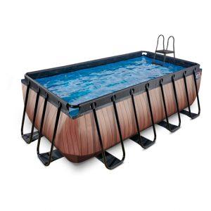 EXIT zwembad 400x200x122cm – Wood