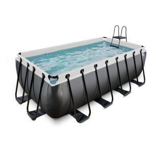 EXIT zwembad 400x200x122cm – Black Leather Style
