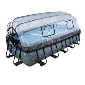 exit-stone-zwembad-540x250x100cm-met-overkapping-en-filterpomp-grijs