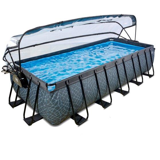exit-stone-zwembad-540x250x100cm-met-overkapping-en-zandfilter-en-warmtepomp-grijs