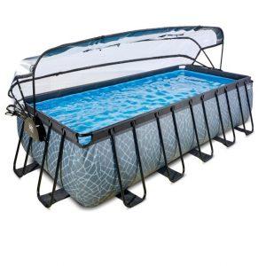 exit-stone-zwembad-540x250x122cm-met-overkapping-en-zandfilter-en-warmtepomp-grijs