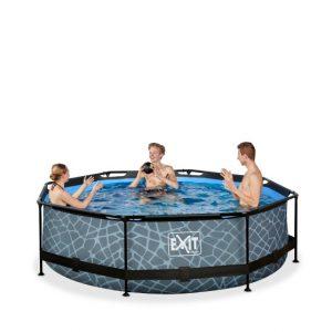 exit-stone-zwembad-o300x76cm-met-filterpomp-de-versie-grijs