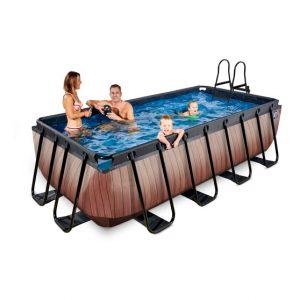exit-wood-zwembad-400x200x100cm-met-zandfilterpomp-bruin (2)