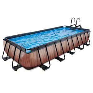 exit-wood-zwembad-540x250x100cm-met-filterpomp-bruin