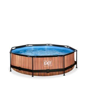 exit-wood-zwembad-o300x76cm-met-filterpomp-de-versie-bruin