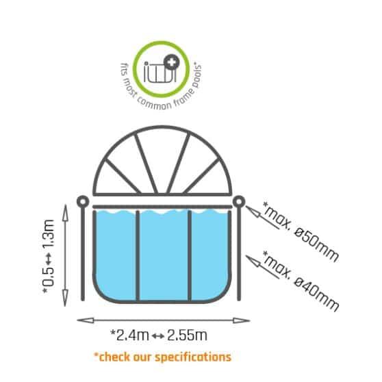 exit-zwembad-schaduwdoek-o244cm